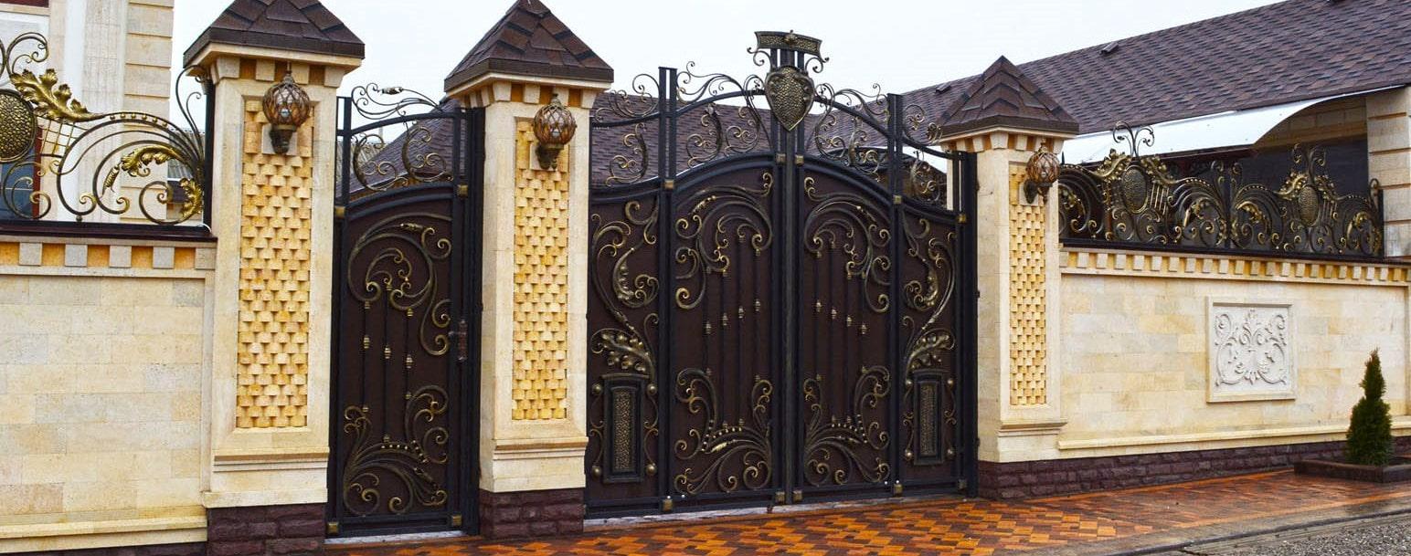 Кованые металлические ворота в Красноярске